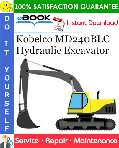 Thumbnail ☆☆ Best ☆☆ Kobelco MD240BLC Hydraulic Excavator Service Repair Manual