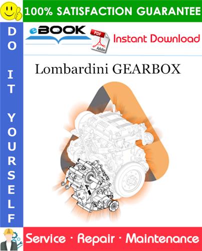 Thumbnail ☆☆ Best ☆☆ Lombardini GEARBOX Service Repair Manual
