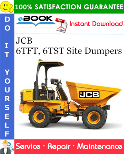 Thumbnail ☆☆ Best ☆☆ JCB 6TFT, 6TST Site Dumpers Service Repair Manual