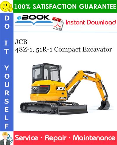 Thumbnail ☆☆ Best ☆☆ JCB 48Z-1, 51R-1 Compact Excavator Service Repair Manual