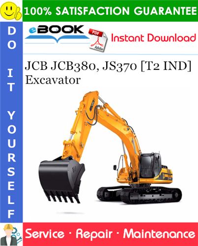 Thumbnail ☆☆ Best ☆☆ JCB JCB380, JS370 [T2 IND] Excavator Service Repair Manual