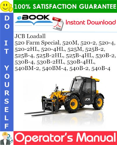 Thumbnail ☆☆ Best ☆☆ JCB Loadall (520 Farm Special, 520M, 520-2, 520-4, 520-2HL, 520-4HL, 525M, 525B-2, 525B-4, 525B-2HL, 525B-4HL, 530B-2, 530B-4, 530B-2HL, 530B-4HL, 540BM-2, 540BM