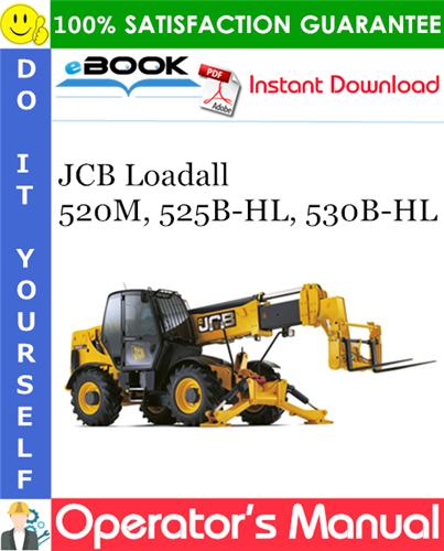 Thumbnail ☆☆ Best ☆☆ JCB Loadall 520M, 525B-HL, 530B-HL Operators Manual