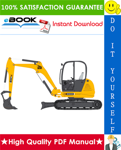 Thumbnail ☆☆ Best ☆☆ JCB 8040, 8045, 8050, 8055 Mini Excavator Service Repair Manual
