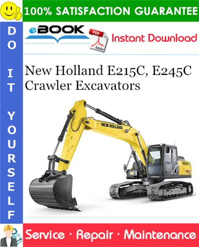 Thumbnail ☆☆ Best ☆☆ New Holland E215C, E245C Crawler Excavators Service Repair Manual #1
