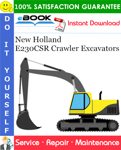 Thumbnail ☆☆ Best ☆☆ New Holland E230CSR Crawler Excavators Service Repair Manual