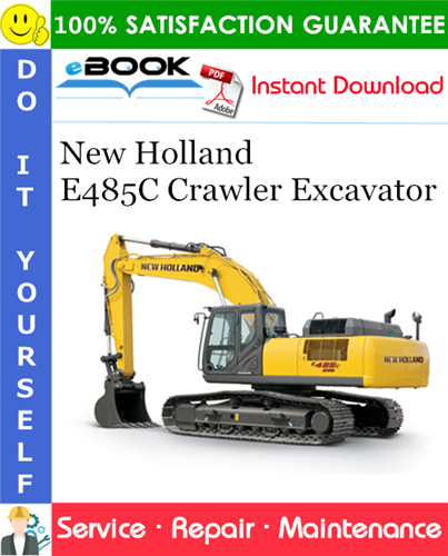 Thumbnail ☆☆ Best ☆☆ New Holland E485C Crawler Excavator Service Repair Manual
