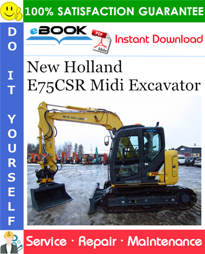 Thumbnail ☆☆ Best ☆☆ New Holland E75CSR Midi Excavator Service Repair Manual