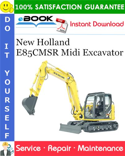 Thumbnail ☆☆ Best ☆☆ New Holland E85CMSR Midi Excavator Service Repair Manual
