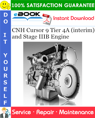 Thumbnail ☆☆ Best ☆☆ CNH Cursor 9 Tier 4A (interim) and Stage IIIB Engine Service Repair Manual