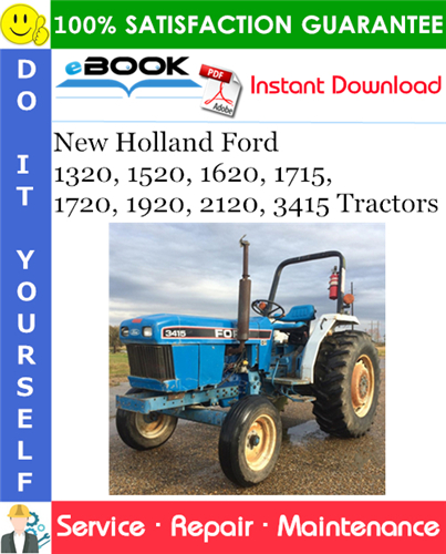 Thumbnail ☆☆ Best ☆☆ New Holland Ford 1320, 1520, 1620, 1715, 1720, 1920, 2120, 3415 Tractors Service Repair Manual