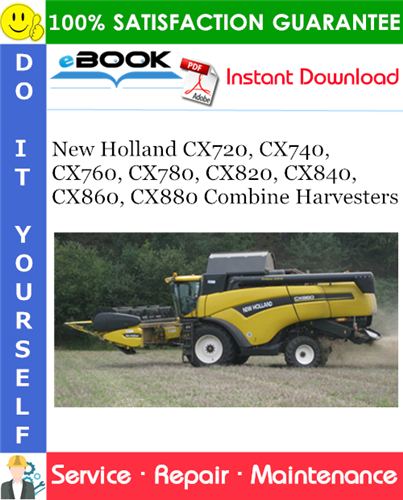 Thumbnail ☆☆ Best ☆☆ New Holland CX720, CX740, CX760, CX780, CX820, CX840, CX860, CX880 Combine Harvesters Service Repair Manual