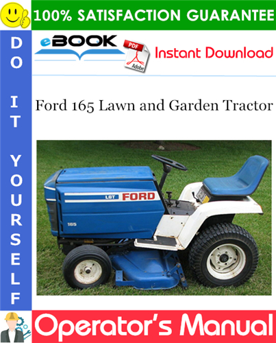 Thumbnail ☆☆ Best ☆☆ Ford 165 Lawn and Garden Tractor Operators Manual