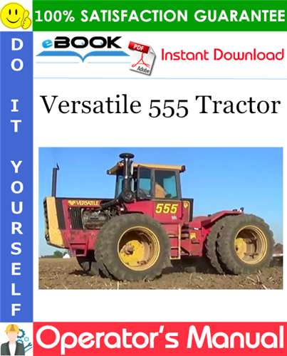 Thumbnail ☆☆ Best ☆☆ Versatile 555 Tractor Operators Manual (Model Year: 1980)