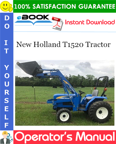Thumbnail ☆☆ Best ☆☆ New Holland T1520 Tractor Operators Manual #1