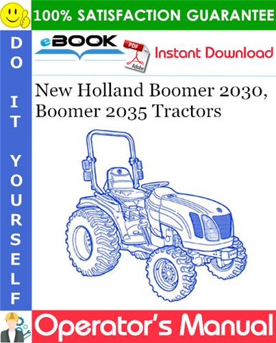 Thumbnail ☆☆ Best ☆☆ New Holland Boomer 2030, Boomer 2035 Tractors Operators Manual