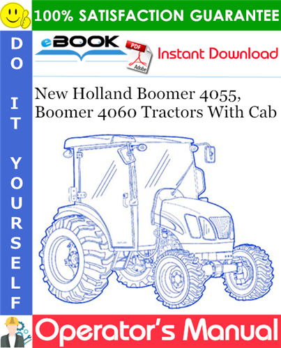 Thumbnail ☆☆ Best ☆☆ New Holland Boomer 4055, Boomer 4060 Tractors With Cab Operators Manual