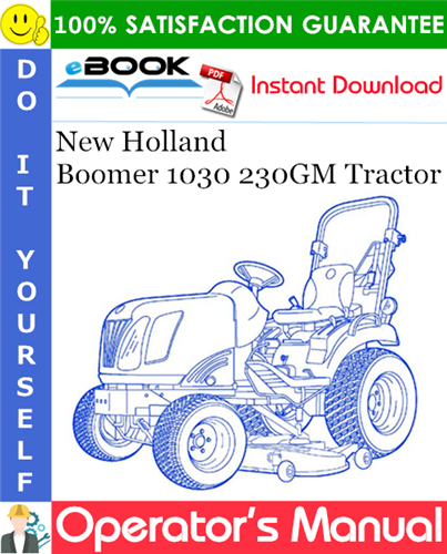 Thumbnail ☆☆ Best ☆☆ New Holland Boomer 1030 230GM Tractor Operators Manual