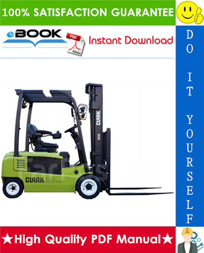 Thumbnail ☆☆ Best ☆☆ Clark GEX16, GEX18, GEX20s (4 Wheel), GTX16, GTX18, GTX20s (3 Wheel) Forklift Trucks Service Repair Manual