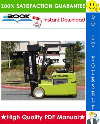 Thumbnail ☆ High-Quality ☆ Clark TMG12, TMG13, TMG15s, TMG15, TMG17, TMG18, TMG20, TMG20x, TMG25, EPG 15, EPG 18 Forklift Trucks Service Repair Manual