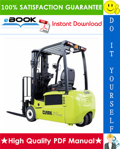 Thumbnail ☆☆ Best ☆☆ Clark CMP40D, CMP45D, CMP50SD, SF35D, SF40D, SF45D, CMP40L, CMP45L, CMP50SL, SF35L, SF40L, SF45L Forklift Trucks Service Repair Manual