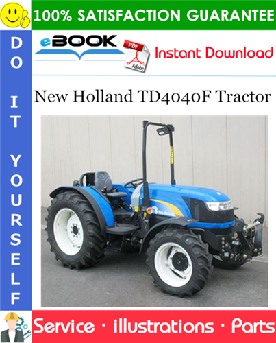 Thumbnail ☆☆ Best ☆☆ New Holland TD4040F Tractor Parts Catalog Manual