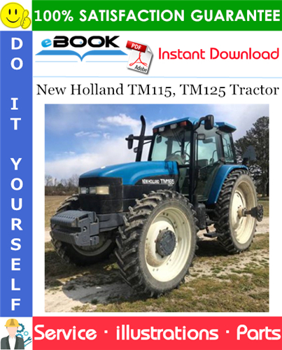 Thumbnail ☆☆ Best ☆☆ New Holland TM115, TM125 Tractor Parts Catalog Manual