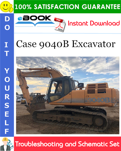 Thumbnail ☆☆ Best ☆☆ Case 9040B Excavator Troubleshooting and Schematic Set