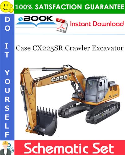 Thumbnail ☆☆ Best ☆☆ Case CX225SR Crawler Excavator Schematic Set