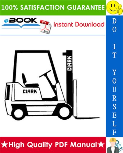 Thumbnail ☆ High-Quality ☆ Clark OP7 Forklift Service & Adjustment Manual