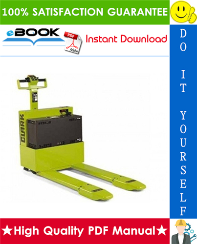 Thumbnail ☆☆ Best ☆☆ Clark WP-40 Electric Pallet Jack Service Repair Manual