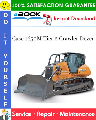 Thumbnail ☆☆ Best ☆☆ Case 1650M Tier 2 Crawler Dozer Service Repair Manual (Serial Numbers: PIN NCDC16500 and above; PIN NDDC16500 and above; PIN NEDC16000 and above; PIN NFDC16000 a