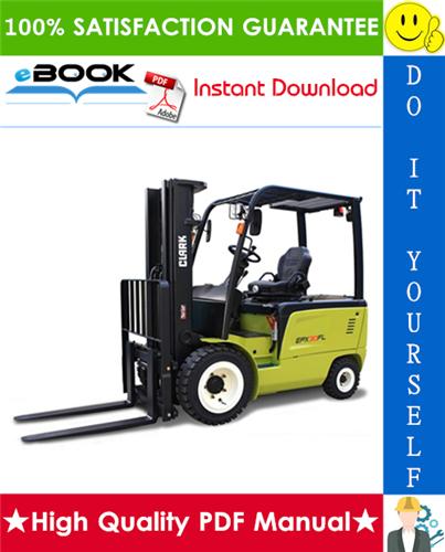 Thumbnail ☆☆ Best ☆☆ Clark TMX12, TMX13, TMX15s, TMX15, TMX17, TMX18, TMX20, TMX20x, TMX25, EPX16, EPX18 Forklift Trucks Service Repair Manual
