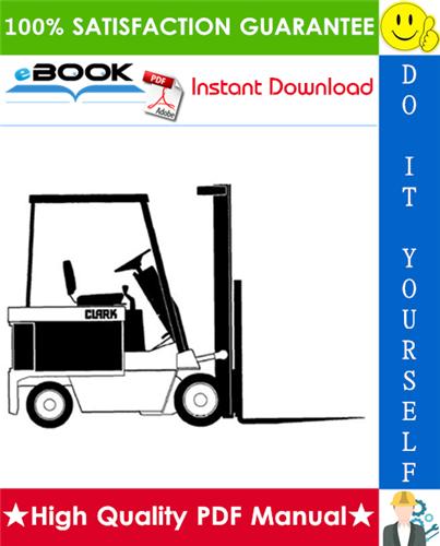 Thumbnail ☆☆ Best ☆☆ Clark ECS17, ECS20, ECS22, ECS25, ECS27, ECS30 HI Performance Supplement Forklift Trucks Service Repair Manual