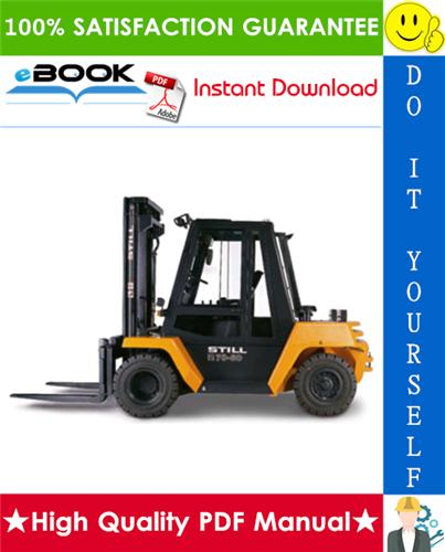 Thumbnail ☆☆ Best ☆☆ Still R70-60, R70-70, R70-80 Diesel Forklift Truck Service Repair Manual