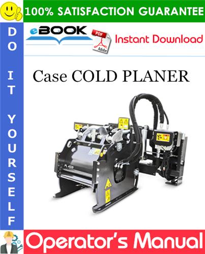 Thumbnail ☆☆ Best ☆☆ Case COLD PLANER Operators Manual