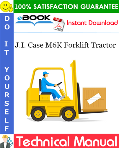 Thumbnail ☆☆ Best ☆☆ J.I. Case M6K Forklift Tractor Operation, Maintenance and Overhaul Instructions With Illustrated Parts List