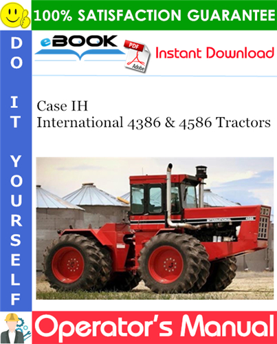 Thumbnail ☆☆ Best ☆☆ Case IH International 4386 & 4586 Tractors Operators Manual