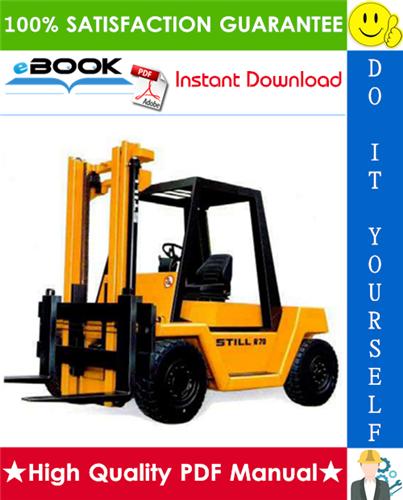 Thumbnail ☆☆ Best ☆☆ Still R70-60, R70-70, R70-80 Diesel Fork Truck Service Repair Manual