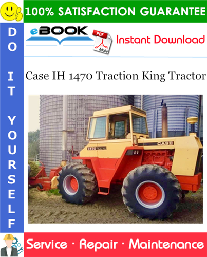 Thumbnail ☆☆ Best ☆☆ Case IH 1470 Traction King Tractor Service Repair Manual
