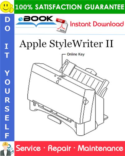 Thumbnail ☆☆ Best ☆☆ Apple StyleWriter II Service Repair Manual