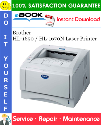 Thumbnail ☆☆ Best ☆☆ Brother HL-1650 / HL-1670N Laser Printer Service Repair Manual