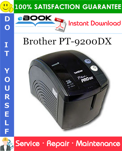 Thumbnail ☆☆ Best ☆☆ Brother PT-9200DX Service Repair Manual