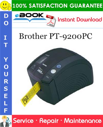 Thumbnail ☆☆ Best ☆☆ Brother PT-9200PC Service Repair Manual