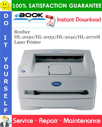 Thumbnail ☆☆ Best ☆☆ Brother HL-2030/HL-2032/HL-2040/HL-2070N Laser Printer Service Repair Manual