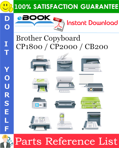 Thumbnail ☆☆ Best ☆☆ Brother Copyboard CP1800 / CP2000 / CB200 Parts Reference List