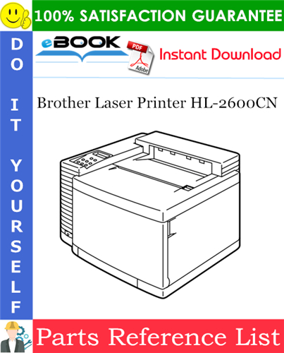 Thumbnail ☆☆ Best ☆☆ Brother Laser Printer HL-2600CN Parts Reference List
