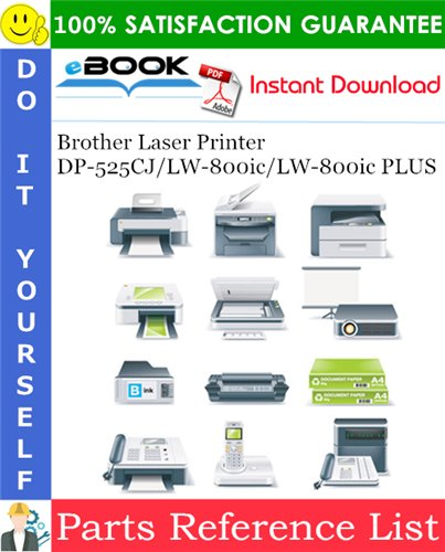 Thumbnail ☆☆ Best ☆☆ Brother Laser Printer DP-525CJ / LW-800ic / LW-800ic PLUS Parts Reference List