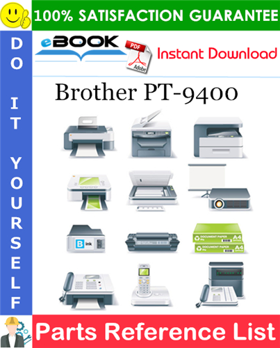 Thumbnail ☆☆ Best ☆☆ Brother PT-9400 Parts Reference List