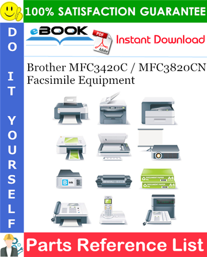 Thumbnail ☆☆ Best ☆☆ Brother MFC3420C / MFC3820CN Facsimile Equipment Parts Reference List
